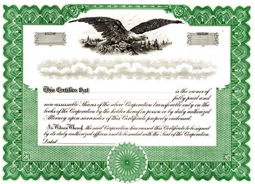 Click The Picture To Order Blumberg Blank Stock Certificates
